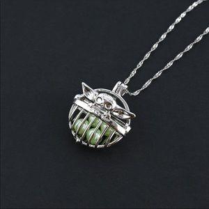 Jewelry - Mandalorian StarWars baby yoda Pearl cage necklace